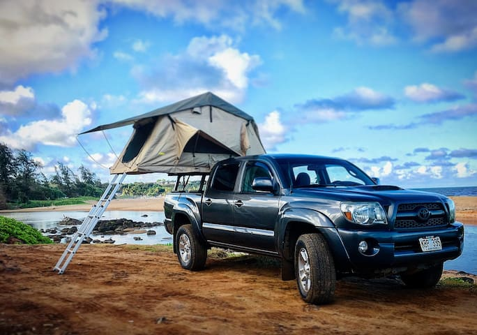 Explore island freedom in our truck top camper!