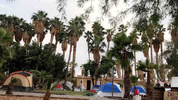Coachella campsite with amenities
