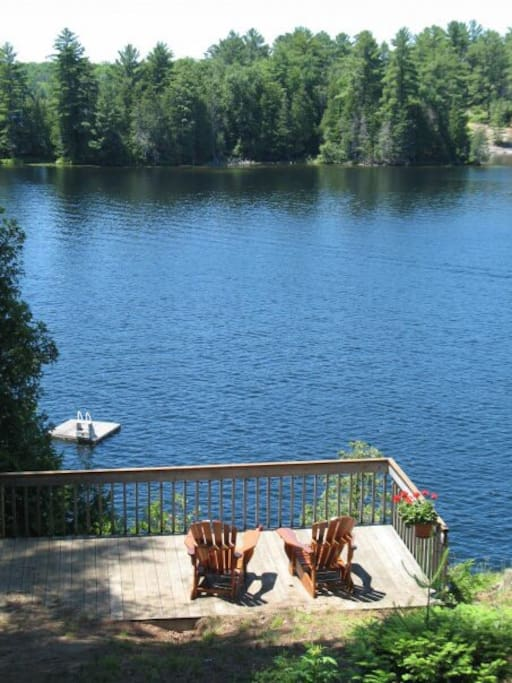 Sip your morning coffee on the mid deck watching the loons glide by.