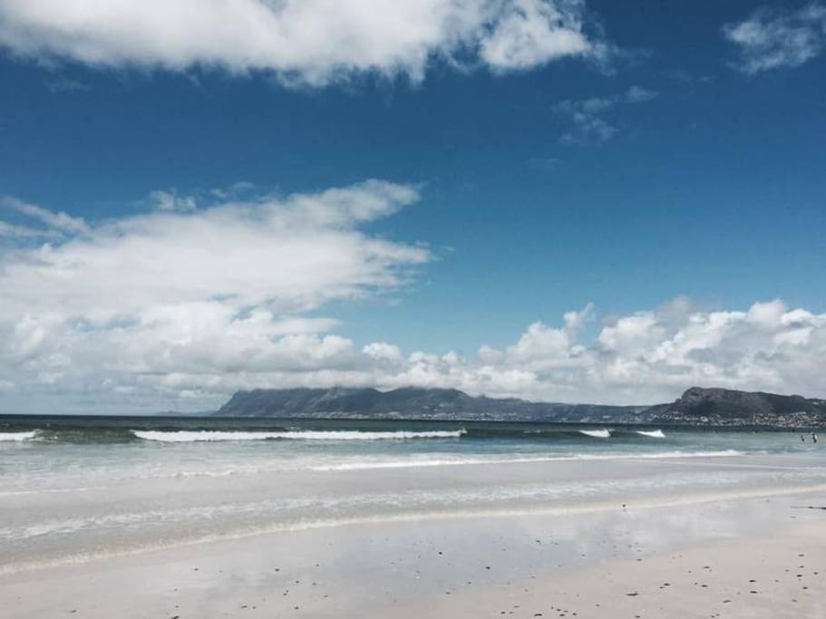 Scenic view toward Cape Point.