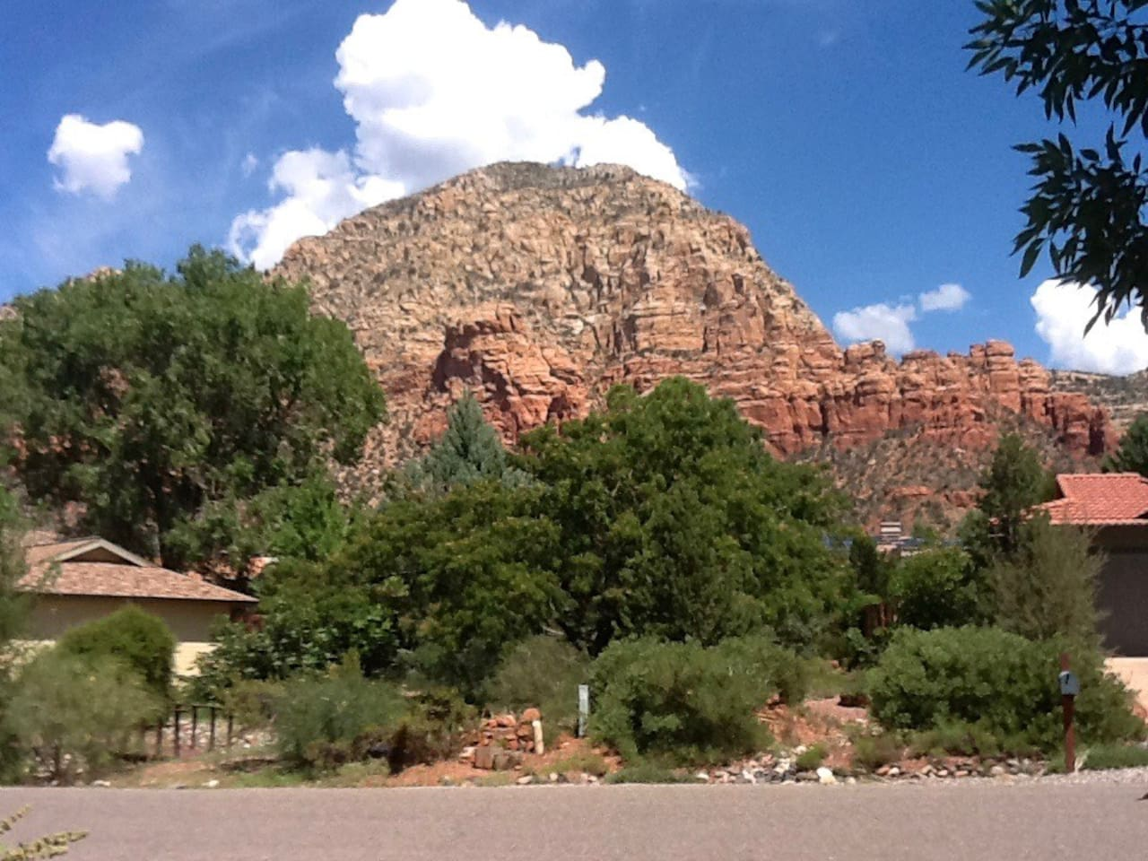 View of Thunder Mountain from the front Door.