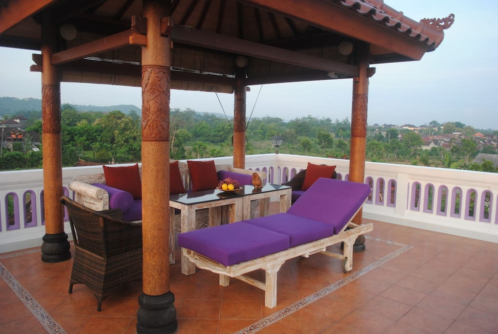 Your private gazebo on the Rooftop is an amazing place to watch stars, moon, sunset and sunrise.