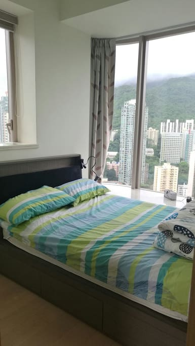 bedroom with beautiful mountain view  1.2*2m bed