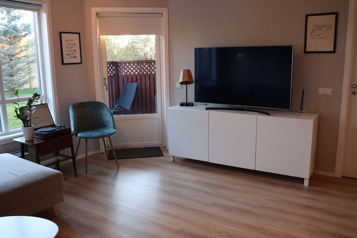 Large TV with cable and Netflix for when you need to relax after a long day of exploring