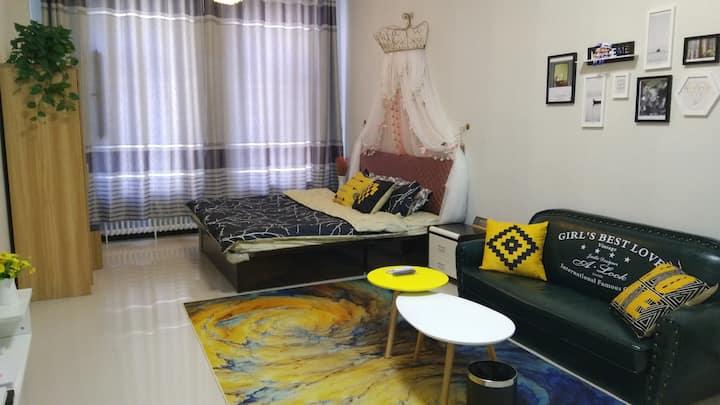 清屋小筑 温馨浪漫北欧风私密独立公寓 中央空调清凉一夏