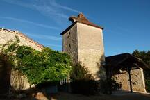 Our pigeonnier tower welcomes you upon arrival