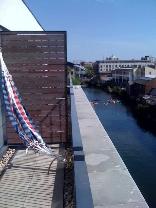 Canalside double balcony