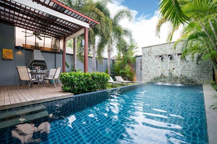 Modern 2 bdrm Pool villa at Soi saiyuan
