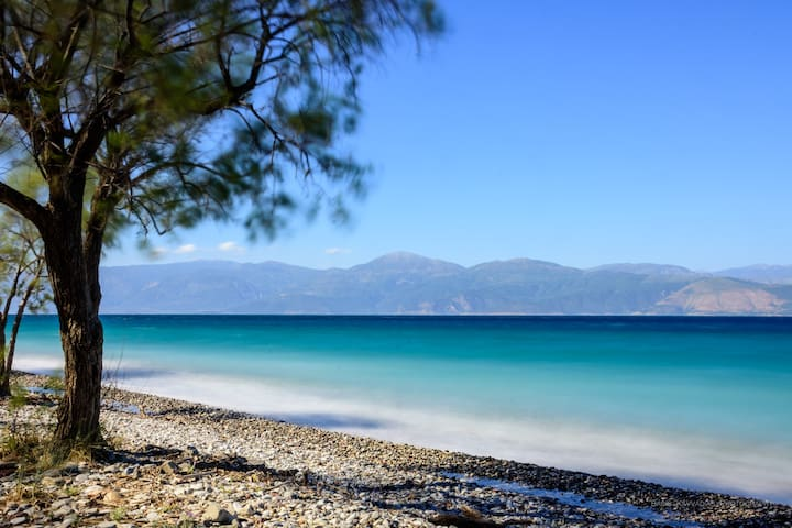 The beach, just 150m from th Oliva Holiday Homes