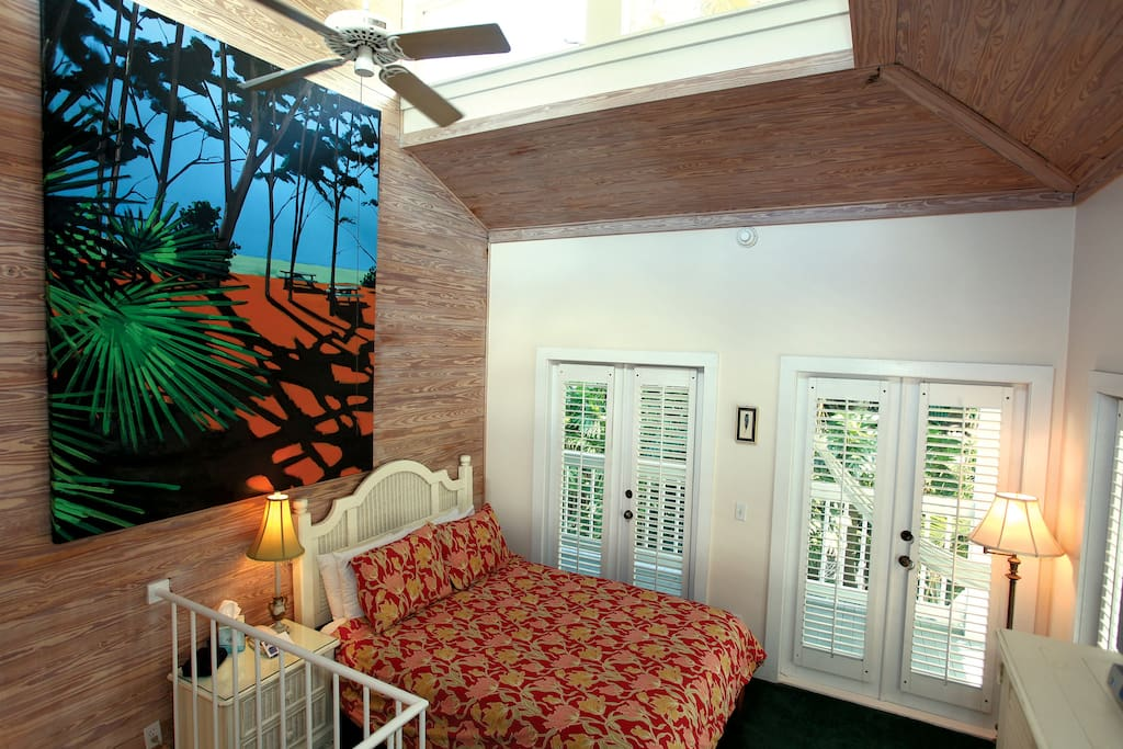 Bob's Place ~ Second Floor Bedroom Accessed by a Spiral Staircase ~