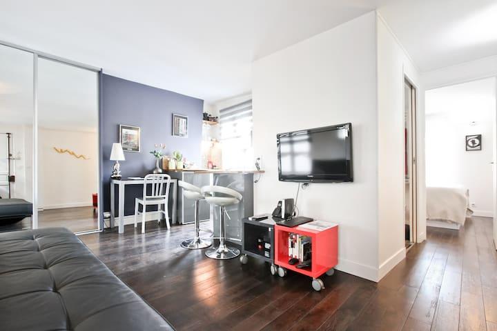 Pompidou Escape- Bright & quiet - Mobility Lease