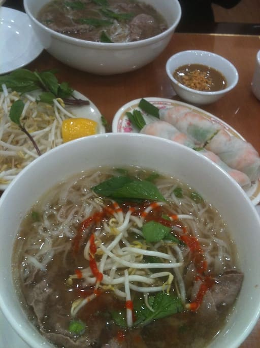 Great Phở available steps away from the front door!