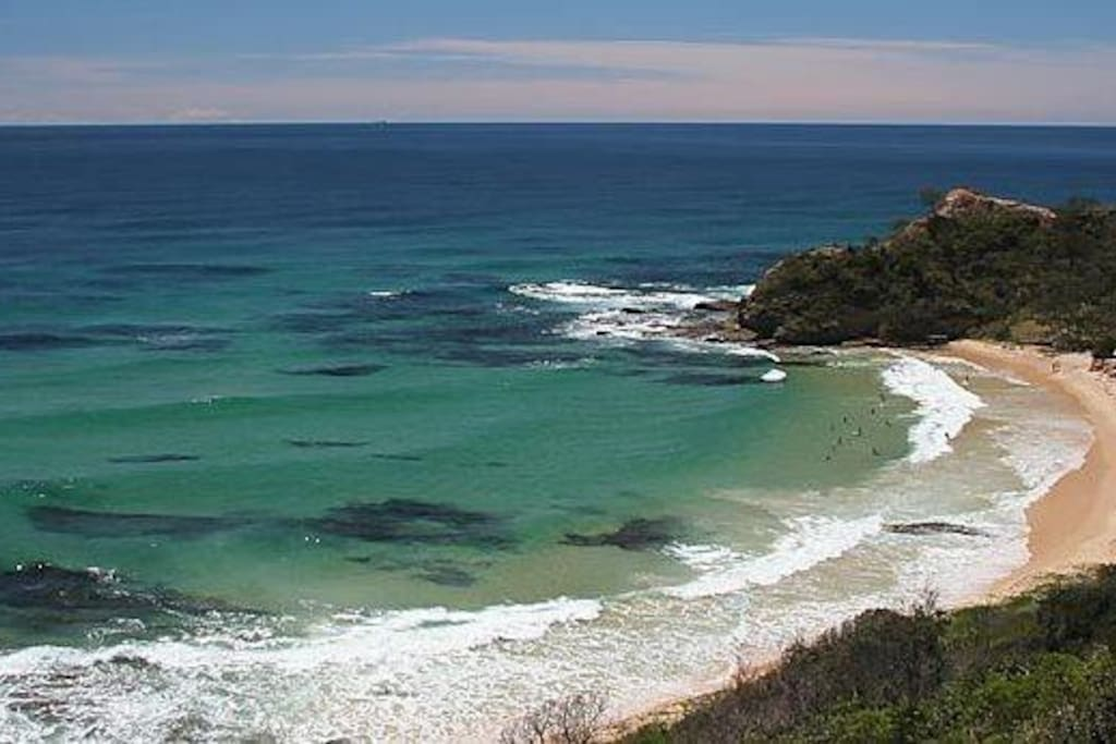 Shelly Beach 2 minutes drive and the best spot for swimming