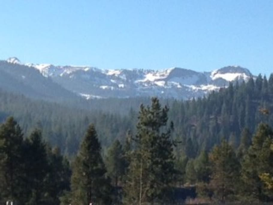 View of Sierra Nevada Mountains above Truckee.