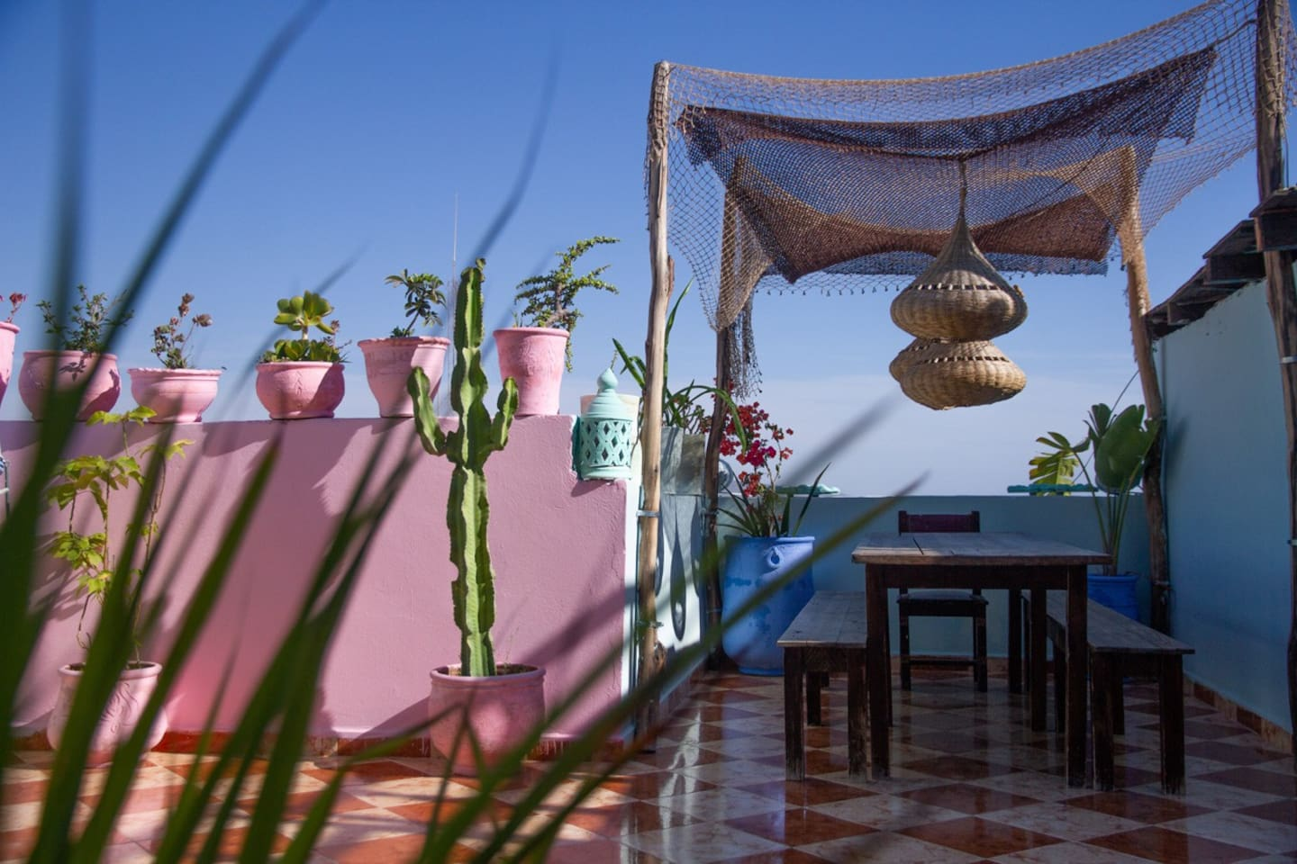 Your private rooftop terrace overlooking panorama beach