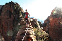 Guided hike up Angels Landing by East Zion Adventures.