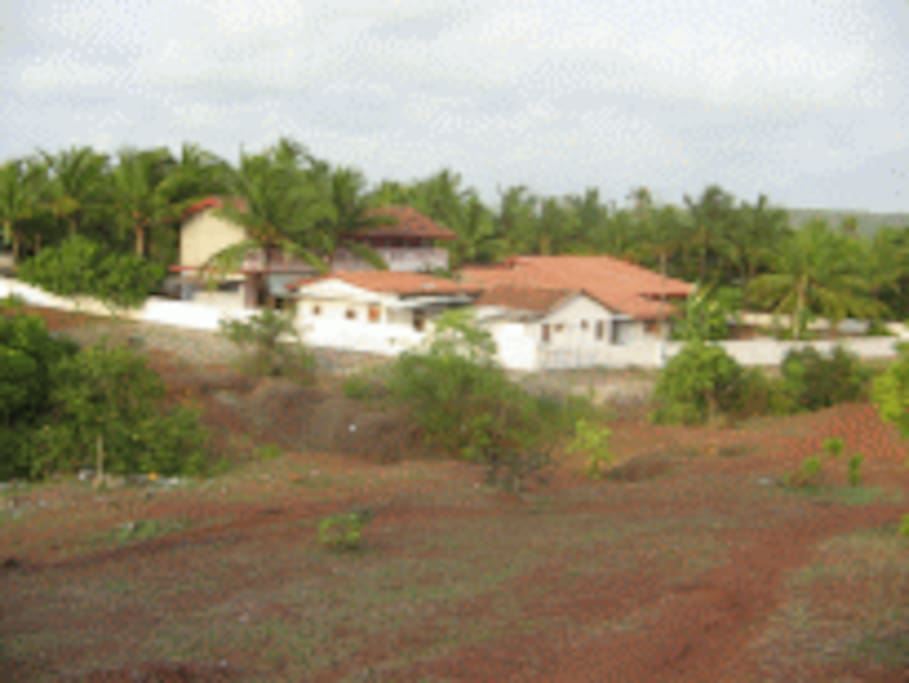 Overall View of the Guest House from the hill