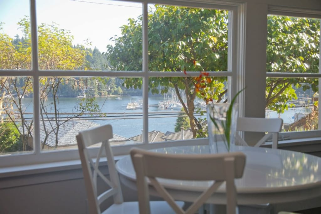 Enjoy views of the water while you sip your morning coffee.