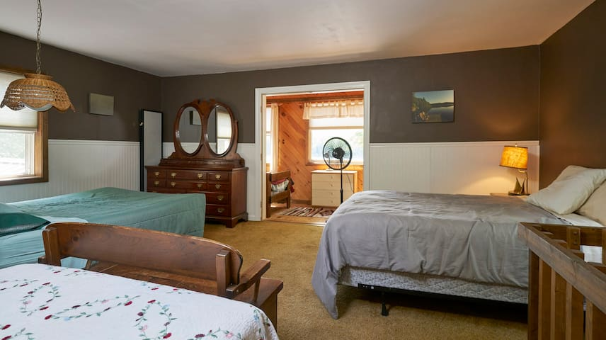 Although we can clearly sleep more than our posted limit of 4 guests. We allow only 4 due a septic capacity and water use issue.
