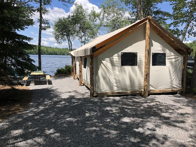 Waterfront Glamping Tent on Trickey Pond