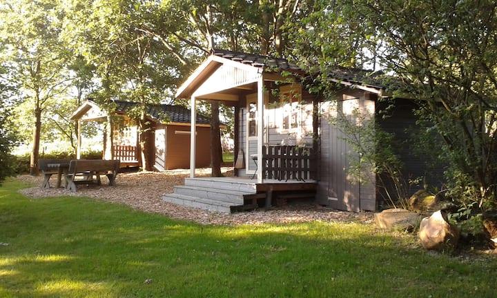 3 Holzhütten mitten in der Natur-Die Lavendelhütte
