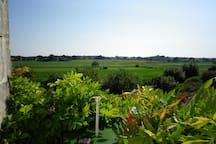 vue du balcon sur la vallée de l'Arnoult