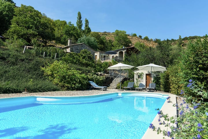 Hillside Villa in Pourchères with Swimming Pool
