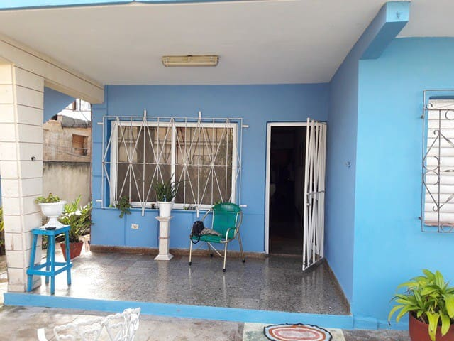 front entrance for the owner and host, terrace can be used by the guests