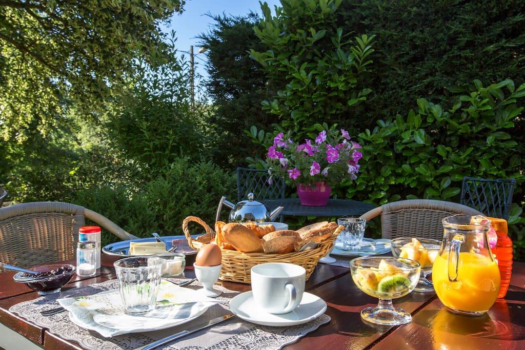 zomers ontbijt plek