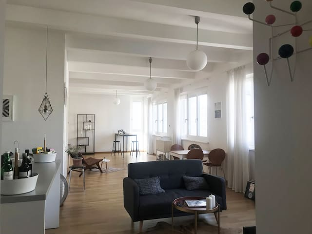 Bright loft in renovated factory