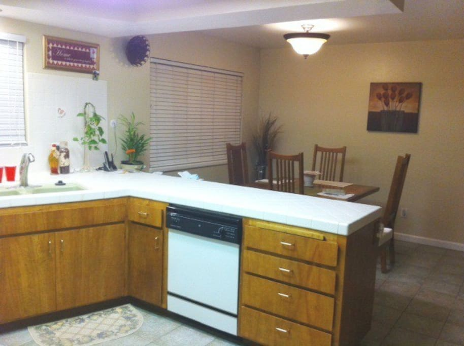 roomy clean kitchen