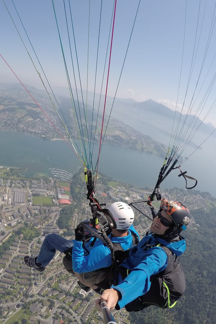 High above Lucerne City