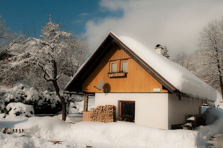 Chalet Hike&Bike by the river in Bohinj valley