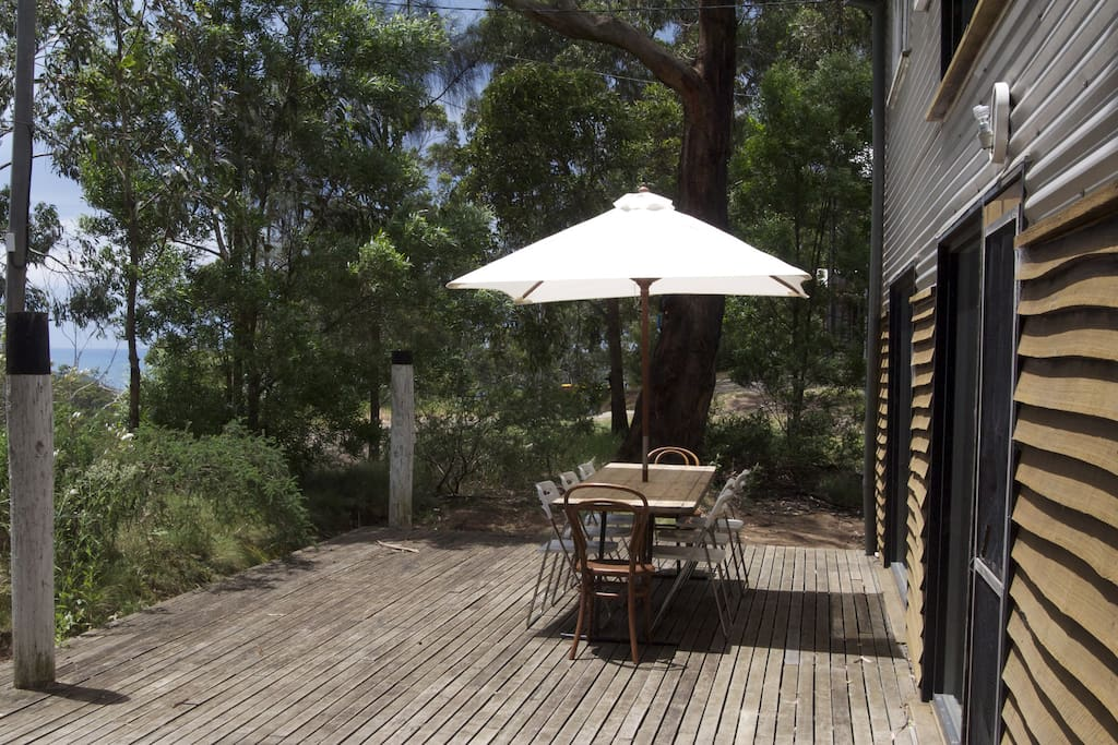 Front deck with Ocean and Otway National Park views