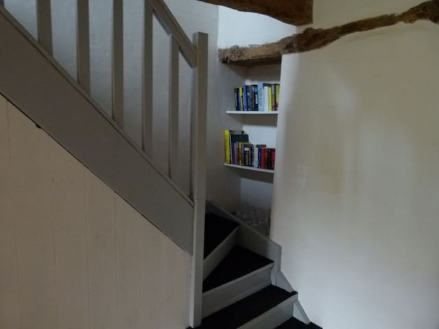 Staircase to the bedrooms and bathroom