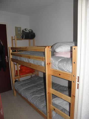 coin avec lit superposé