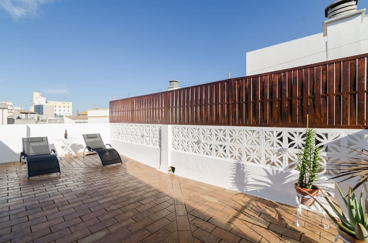 Lovely and confortable space with private terrace! - Jerez de la Frontera - Byt