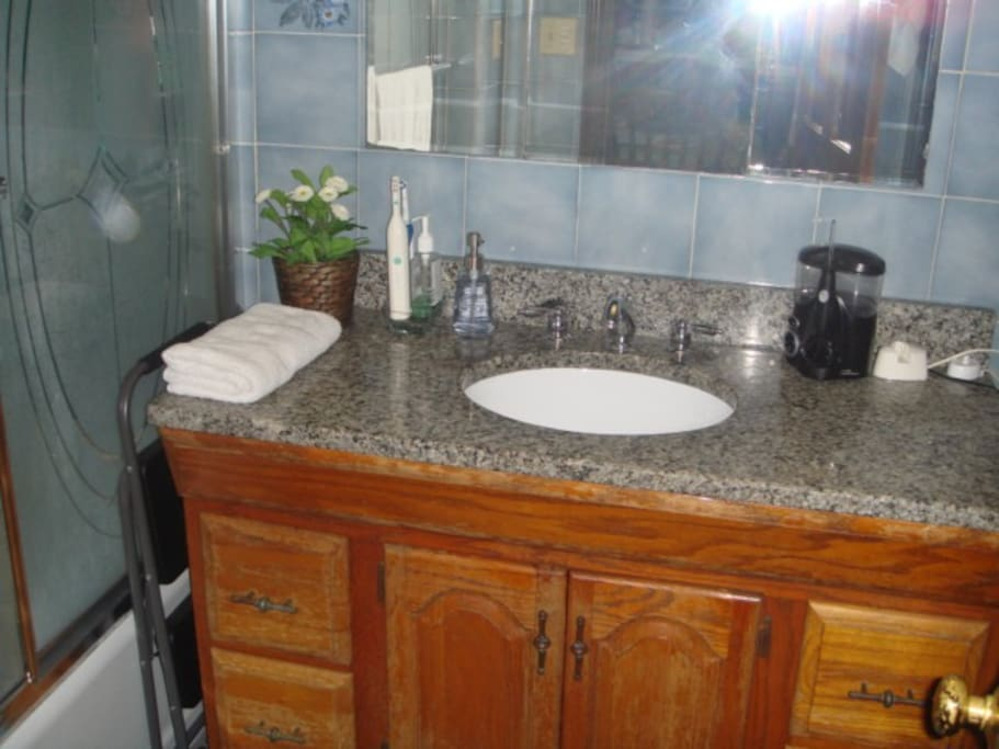 Bathroom and Shower,located on the top floor next to dining room.