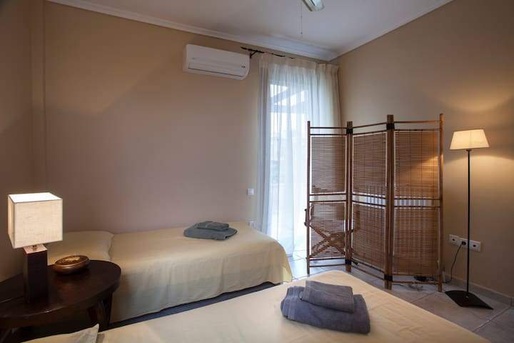Bedroom II is equipped with closet, A/C, ceiling fan & has balcony