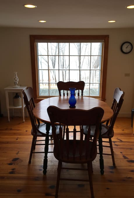 Dining Room with Overlooking Casco Bay