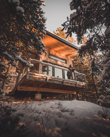 Cabin in the woods, Mont-Tremblant area.