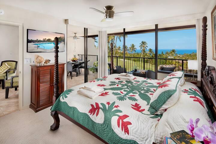 Lower level master bedroom.