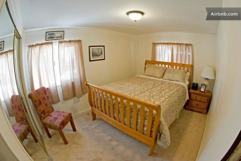 One of our incredibly comfortable bedrooms with a pillow top mattress.