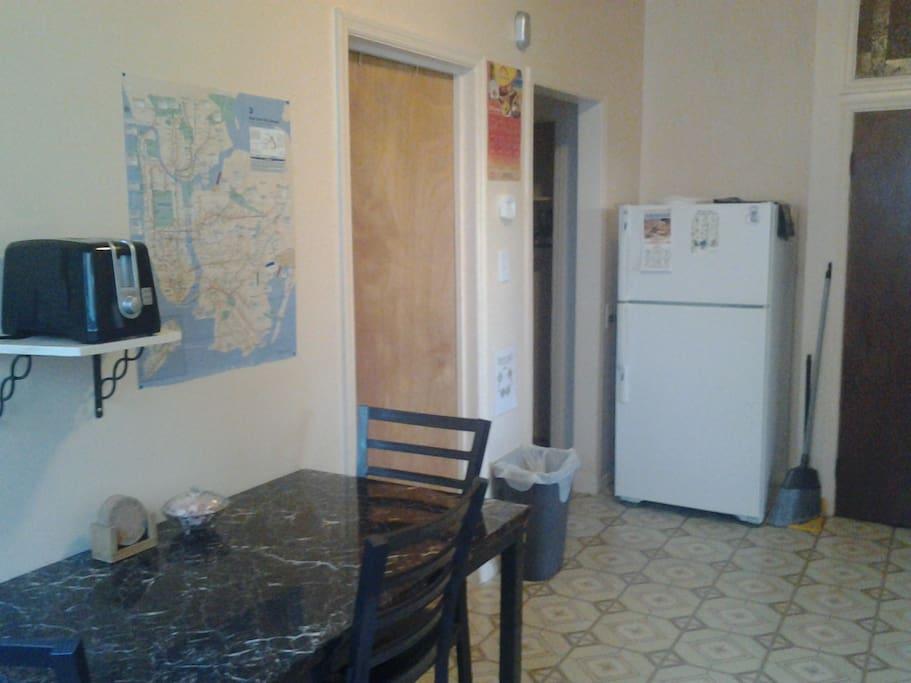 Private kitchen.