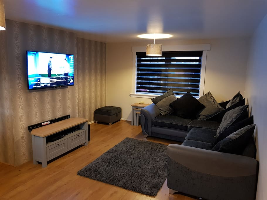 Living room with access to  Sky Q