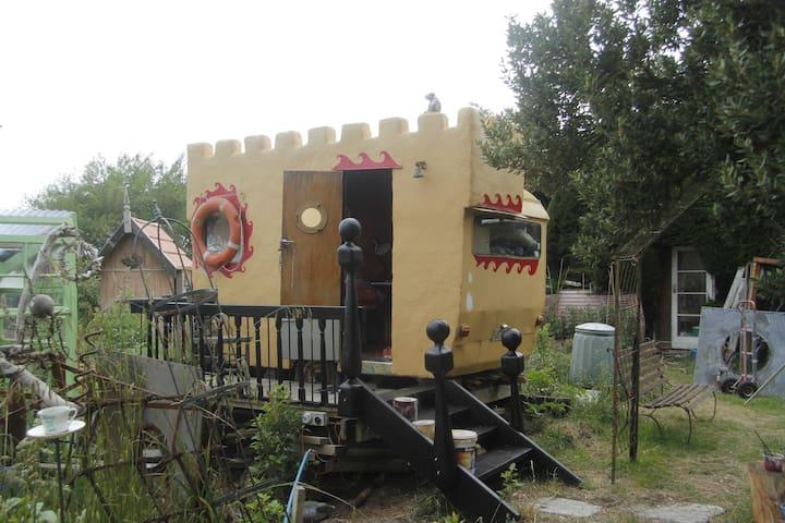 A castle gate house