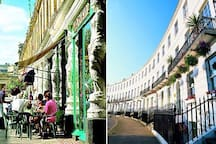 The cafe culture of Cheltenham and the beautiful sweeping architecture of the many regency parades.
