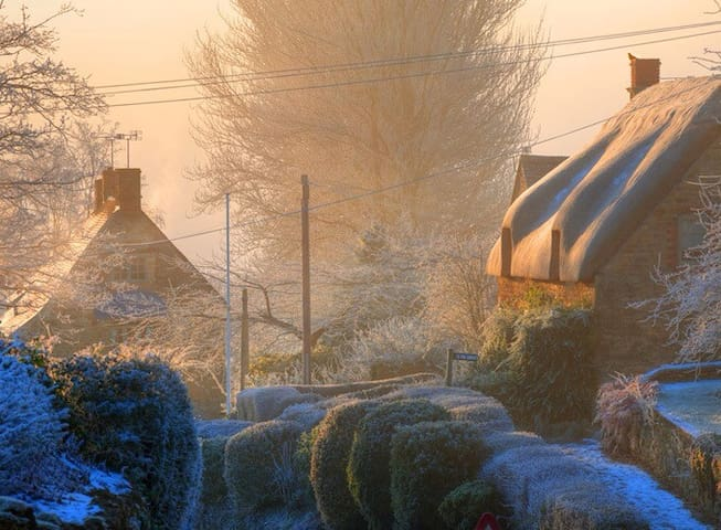 A winter morning in The Cotswolds.