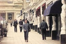 The famous armless walk in Cheltenham that consists of many individual and beautiful boutiques selling anything from jewellery, to antiques and designer clothes.