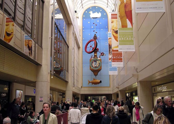 The Wishing fish clock which blows bubbles in one of the shopping centres.